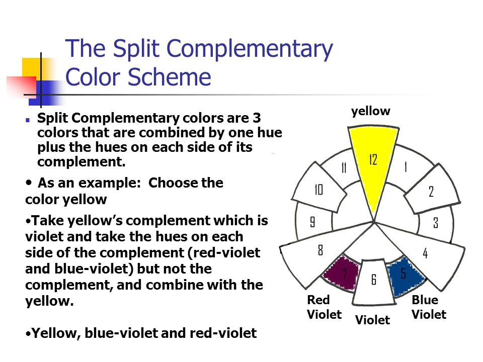 The Split Complementary Color Scheme