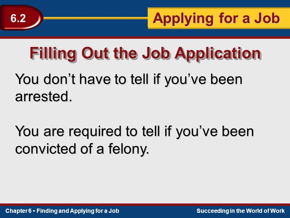 Apply For Don T Tell The Bride: Section 6.2 Applying For A Job.