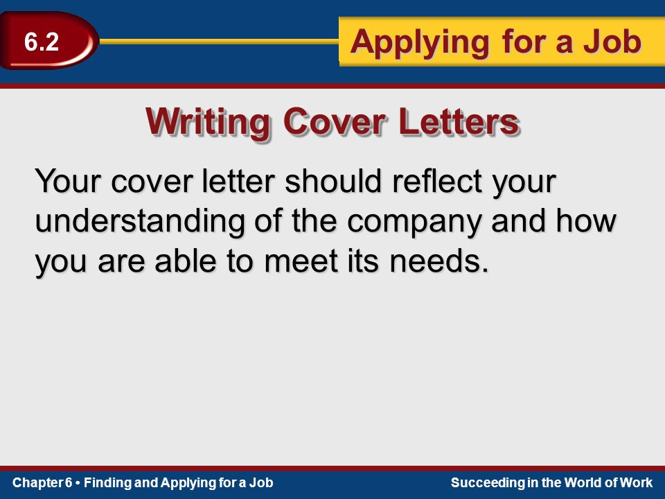 section 6 2 applying for a job