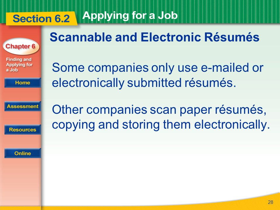 Making Your Resume Scannable
