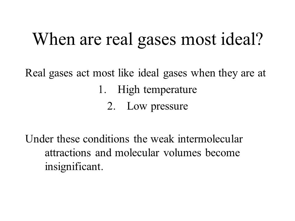 Gases The behavior of gases can be explained by the KINETIC ...