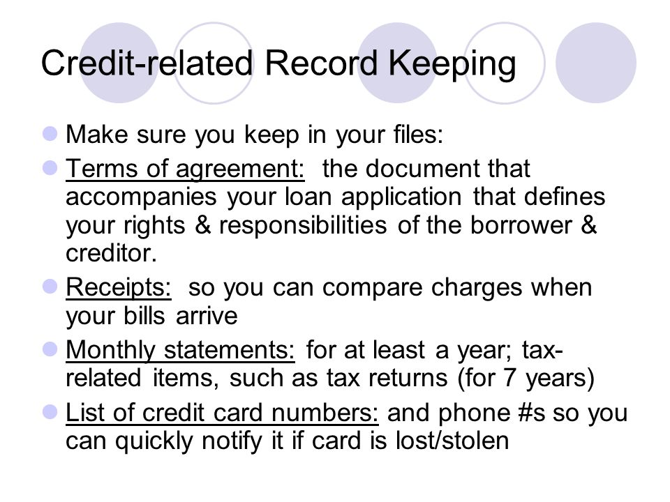 Personal finance notes ppt video online download 13 credit related record keeping platinumwayz