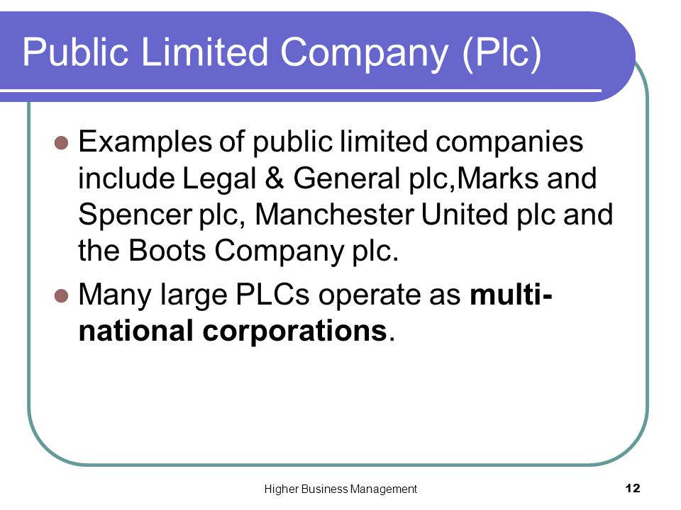 essay public limited company plc Advantages of a private limited company (ltd)  the sales of shares can raise  capital  related gcse business, companies and organisation, activity essays.