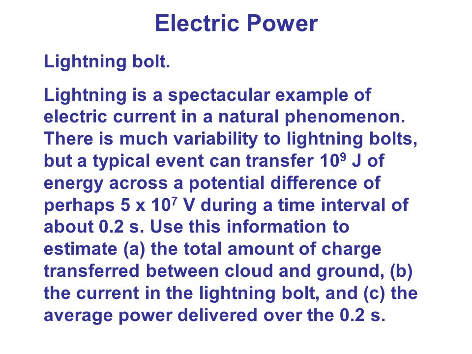 Electric Power Lightning bolt.