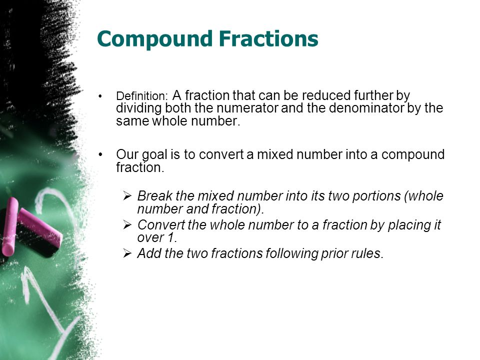 how to add compound fractions