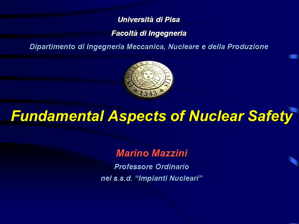 Fundamental Aspects of Nuclear Safety
