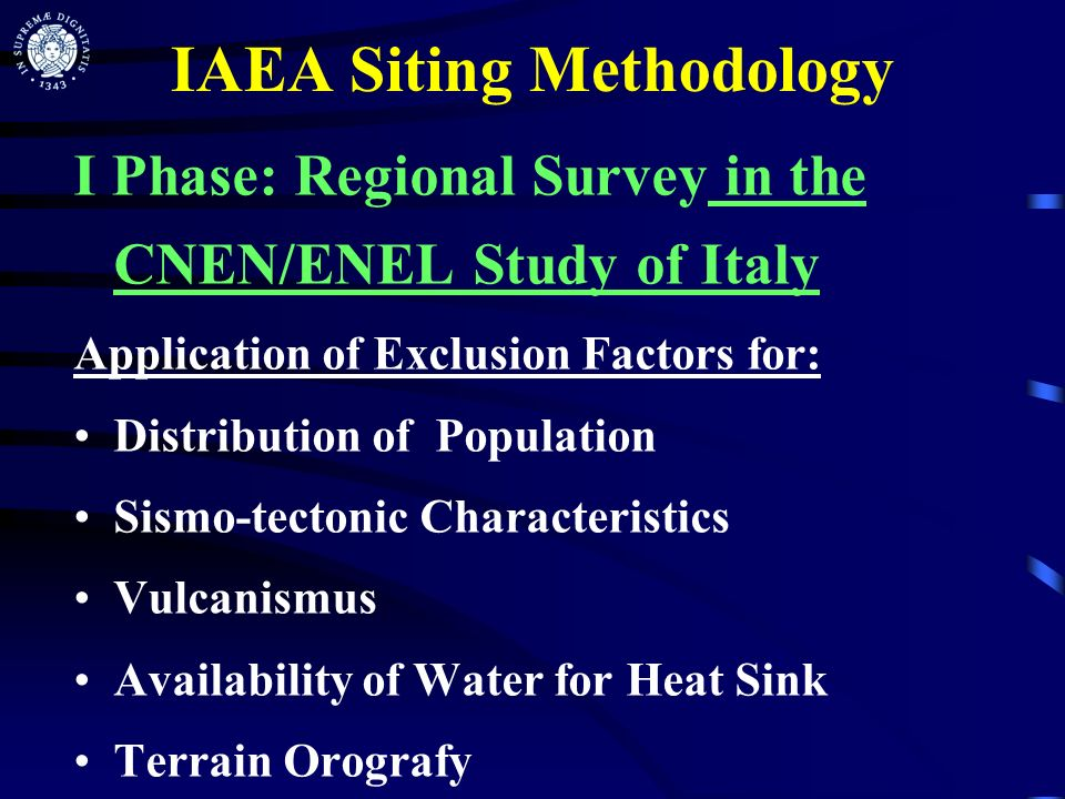 IAEA Siting Methodology