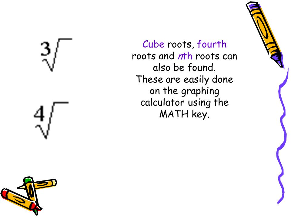 how to find cube root on calculator ti-30xa