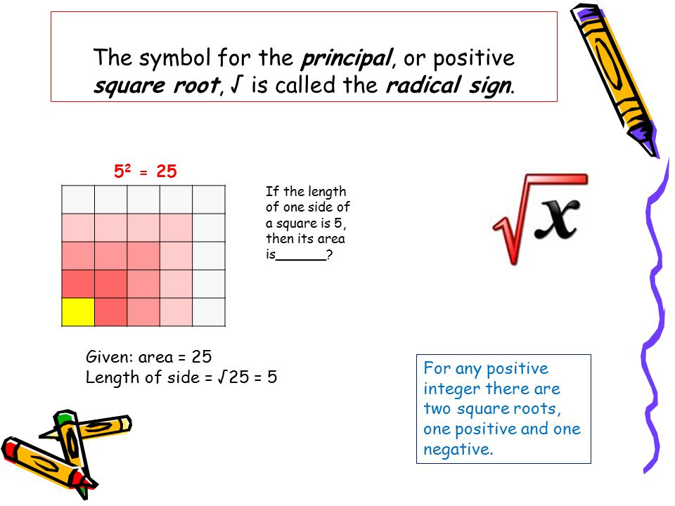 Squares Square Roots And Other Radicals Ppt Video Online Download