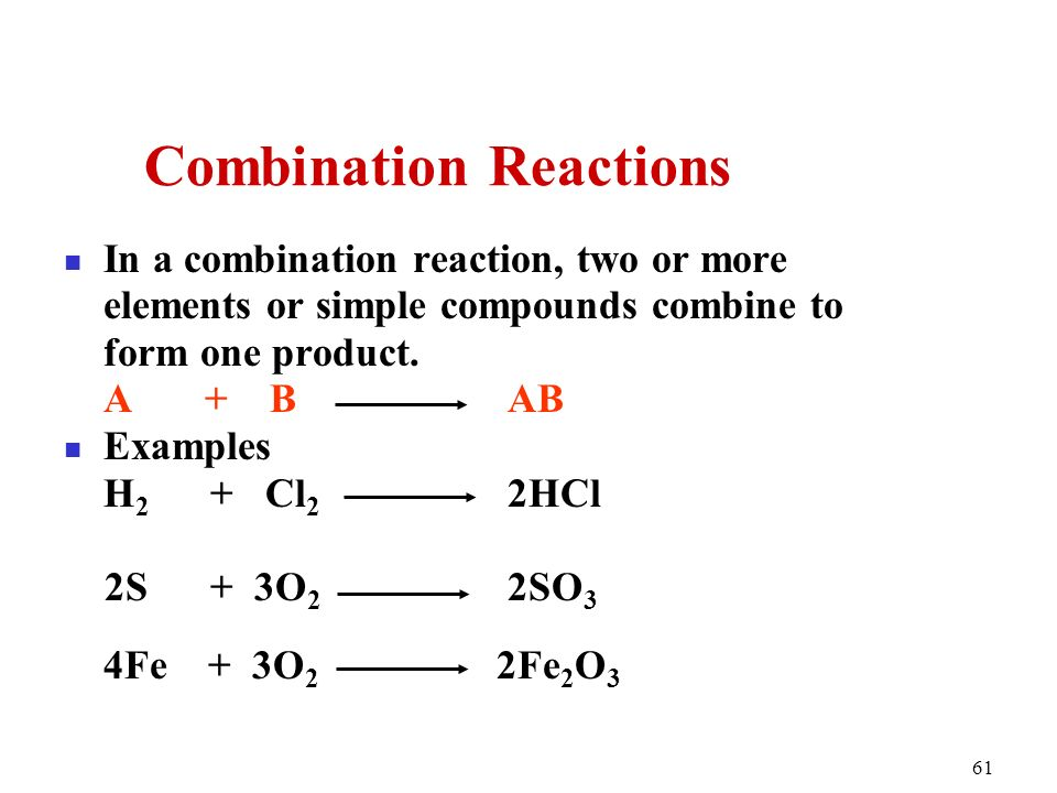 Chapter 6 Chemical Reactions Classification and Mass Relationship ...