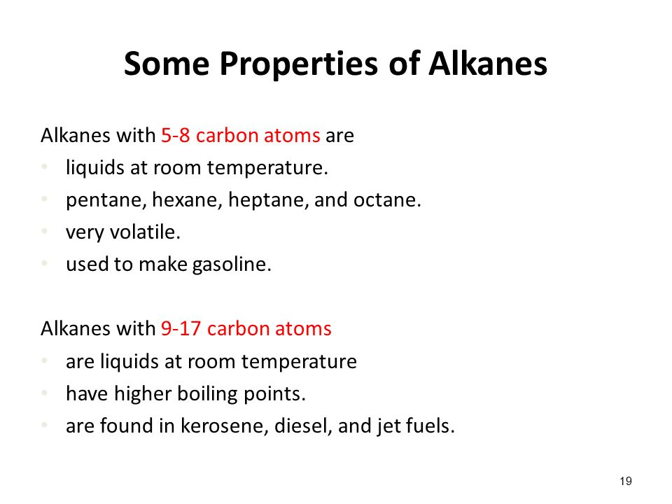 Which Alkanes Are Gases At Room Temperature