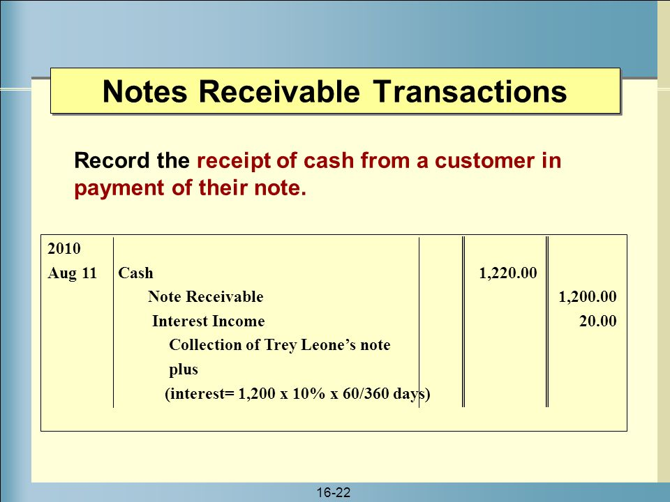 Notes Payable and Notes Receivable - ppt video online download