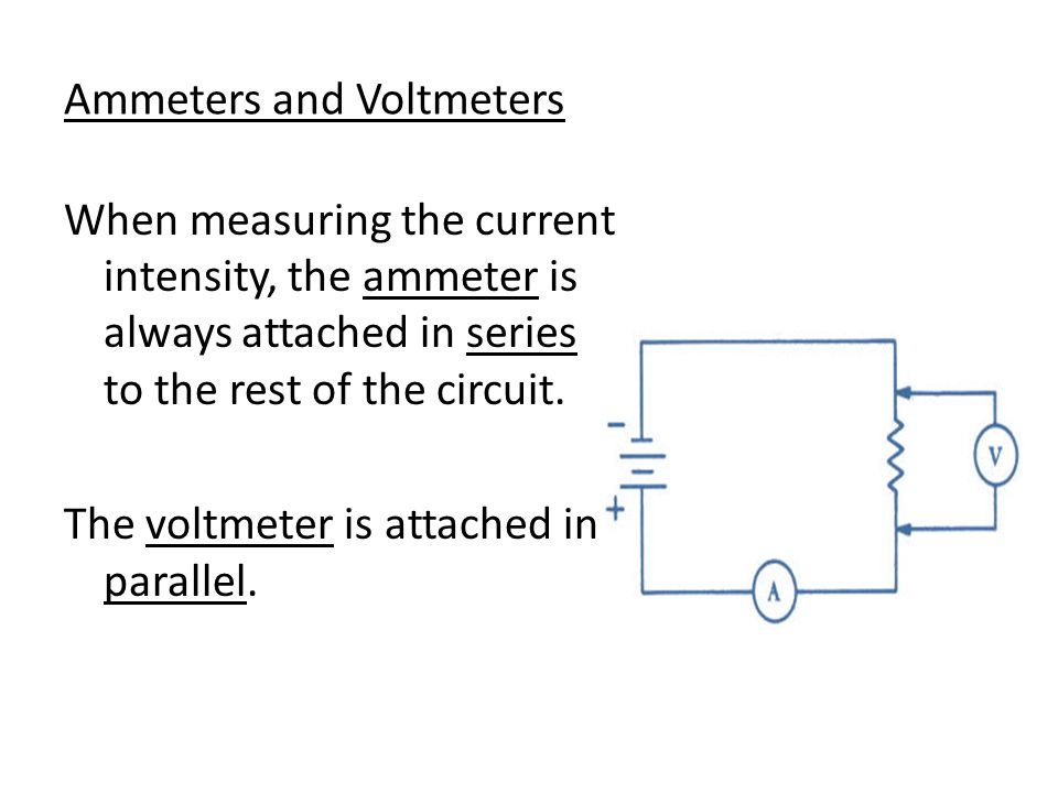 Ammeters and Voltmeters