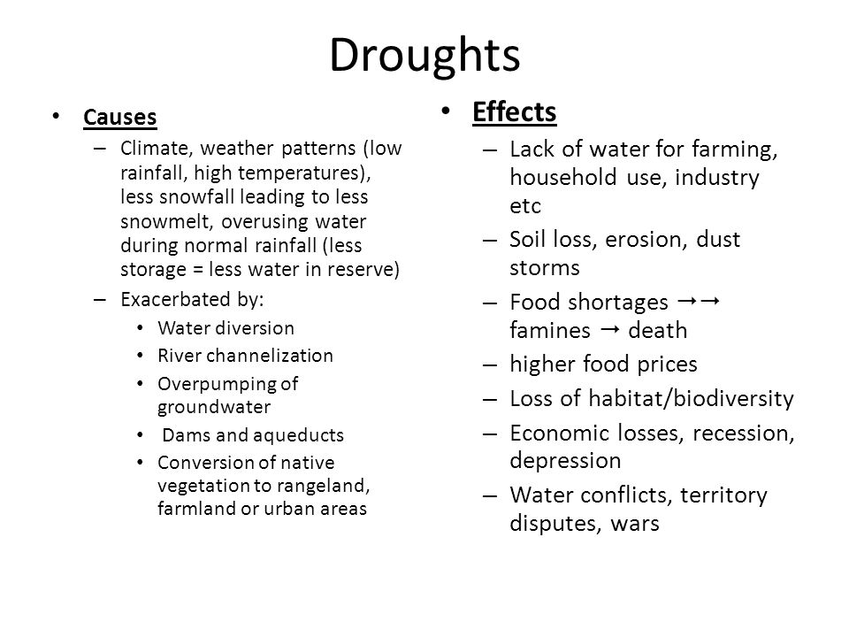 causes and effects of water shortage environmental sciences essay Shortage of clean water is a serious problem in the world nowadays particularly, shortage of clean water has developed remarkably in both popularity and in complicatedness due to many causes, which come from both citizens and governments this issue causes a lot of effects not only on people's life but also on environment.