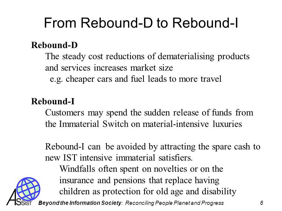 From Rebound-D to Rebound-I