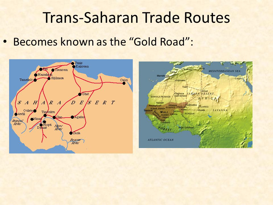 silk road and sub saharan trade rout The silk road is the most famous ancient trade route, linking the major ancient  civilizations of china and the roman empire silk was traded.