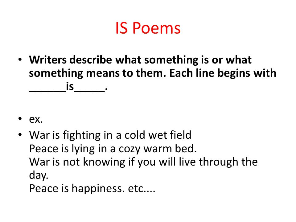 how to write a poem describing something