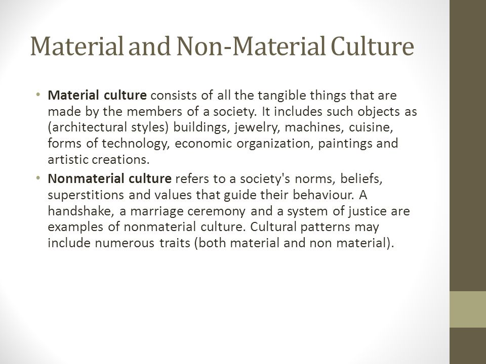 material and non material culture Non material culture now is available at lightintheboxcom, buy now with and get a great discount, choose our fast delivery option and you will receive it in 7 days.