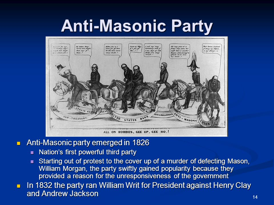 The Emergence Of The Two Party System And Jacksonian