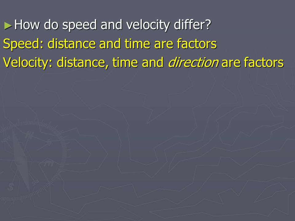 How do speed and velocity differ
