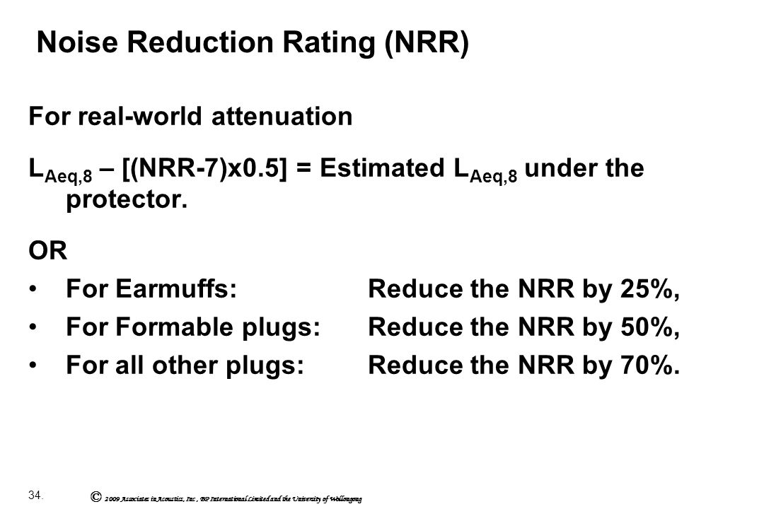 Noise+Reduction+Rating+%28NRR%29 international module 503 noise measurement & its effects ppt NRR Rating Chart at soozxer.org