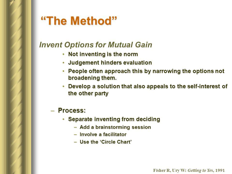 Invent Options For Mutual Gain