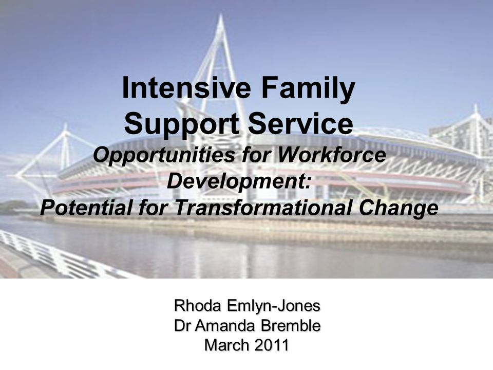 Intensive Family Support Service Opportunities for Workforce Development: Potential for Transformational Change