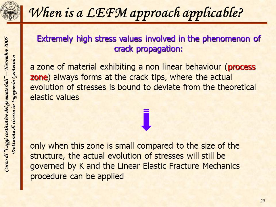 When is a LEFM approach applicable