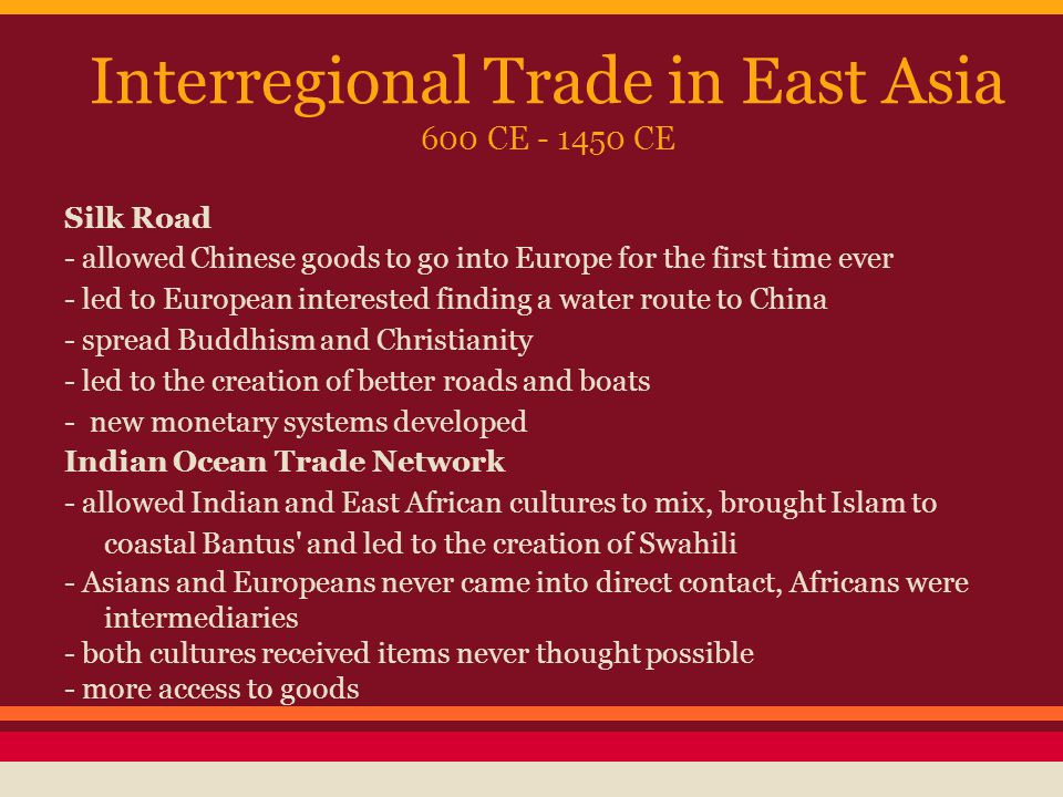 changes and continuities east asia 600 1450 ce Analyze similarities and differences in two of the following trade networks in the period 600 ce to 1450 ce include changes and continuities east asia latin.