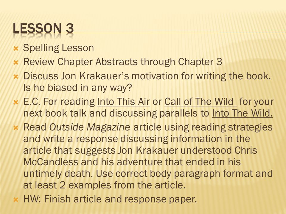 jon krakauers purpose for writing into the wild