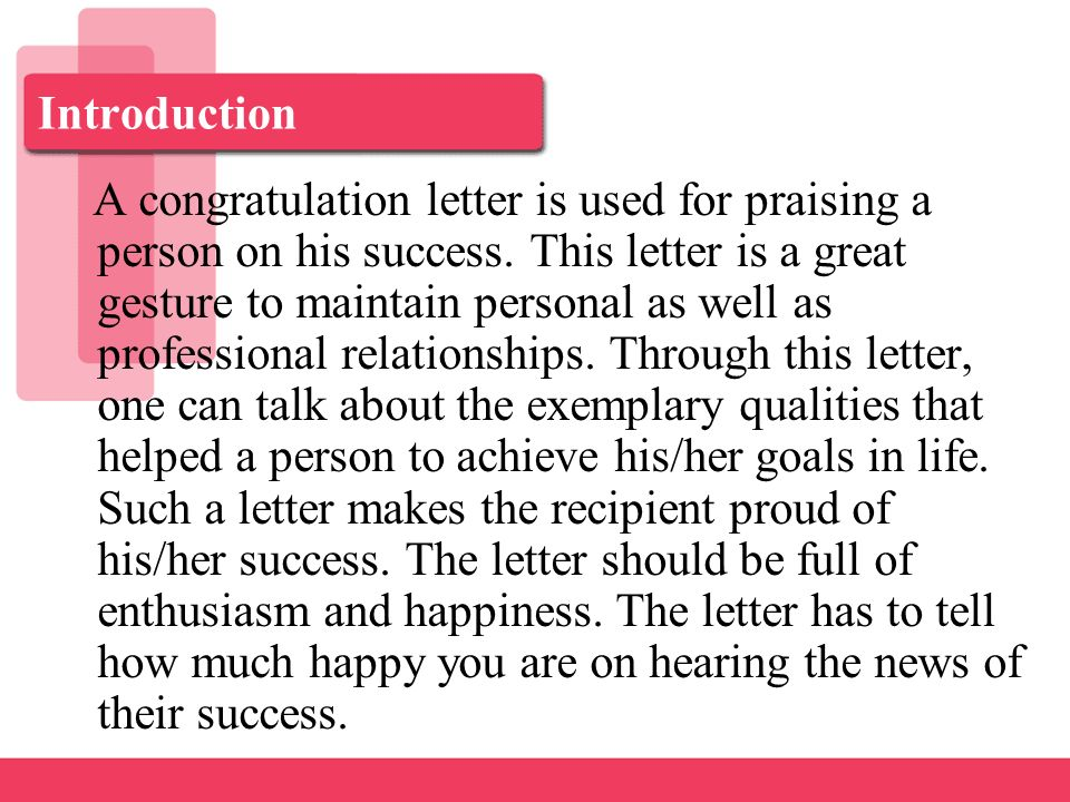 How to write a proud of you letter
