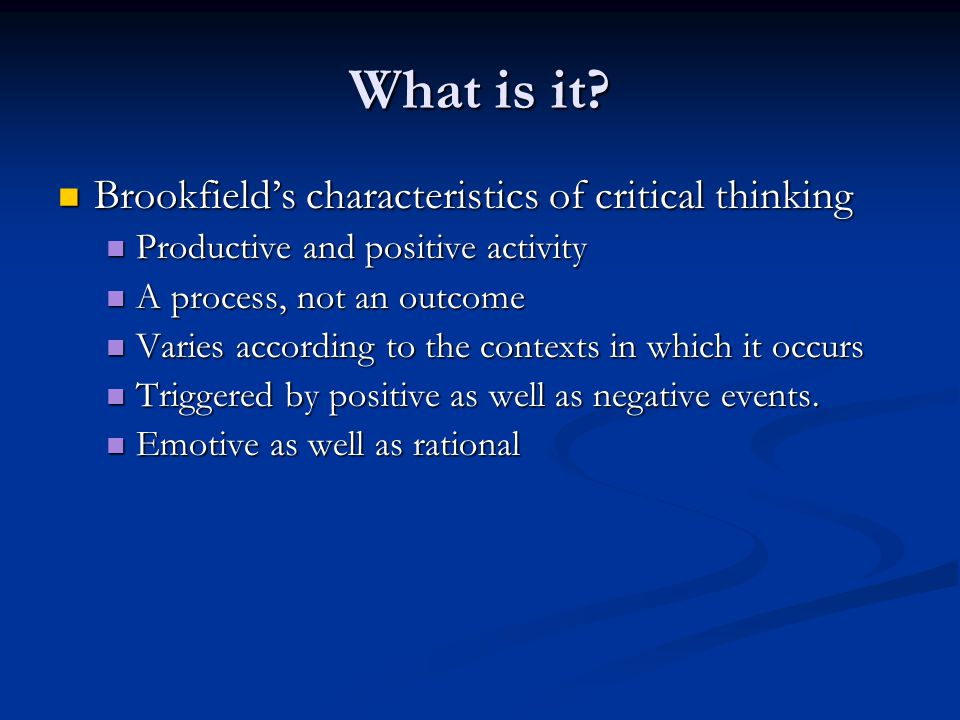 Teaching Critical Thinking: A Metacognitive Approach