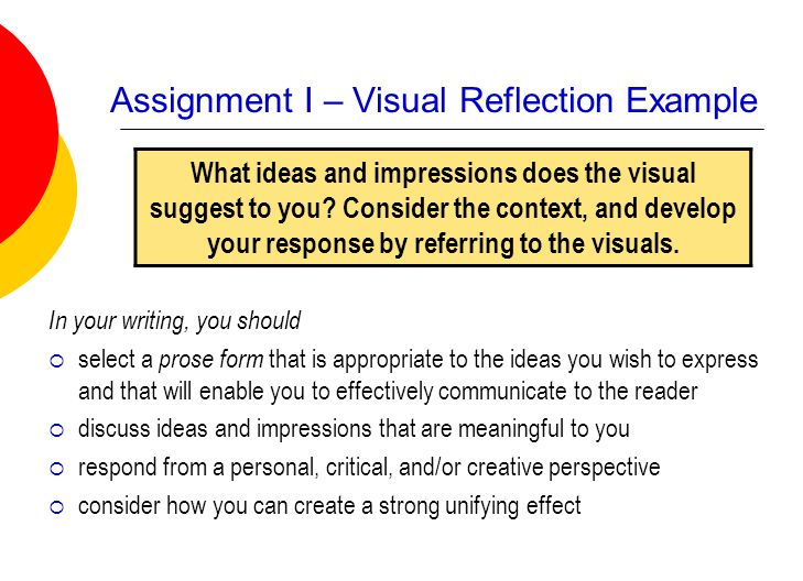 how to write a visual reflection