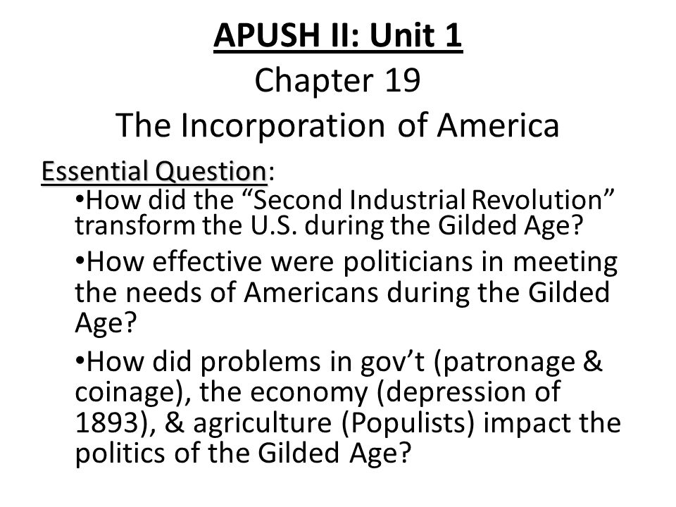 chapter 12 question apush the american Here you will find ap us history notes for the american pageant  chapter 12, african american history questions, and suggestions, try.
