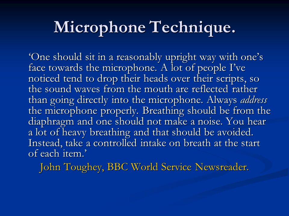 John Toughey, BBC World Service Newsreader.