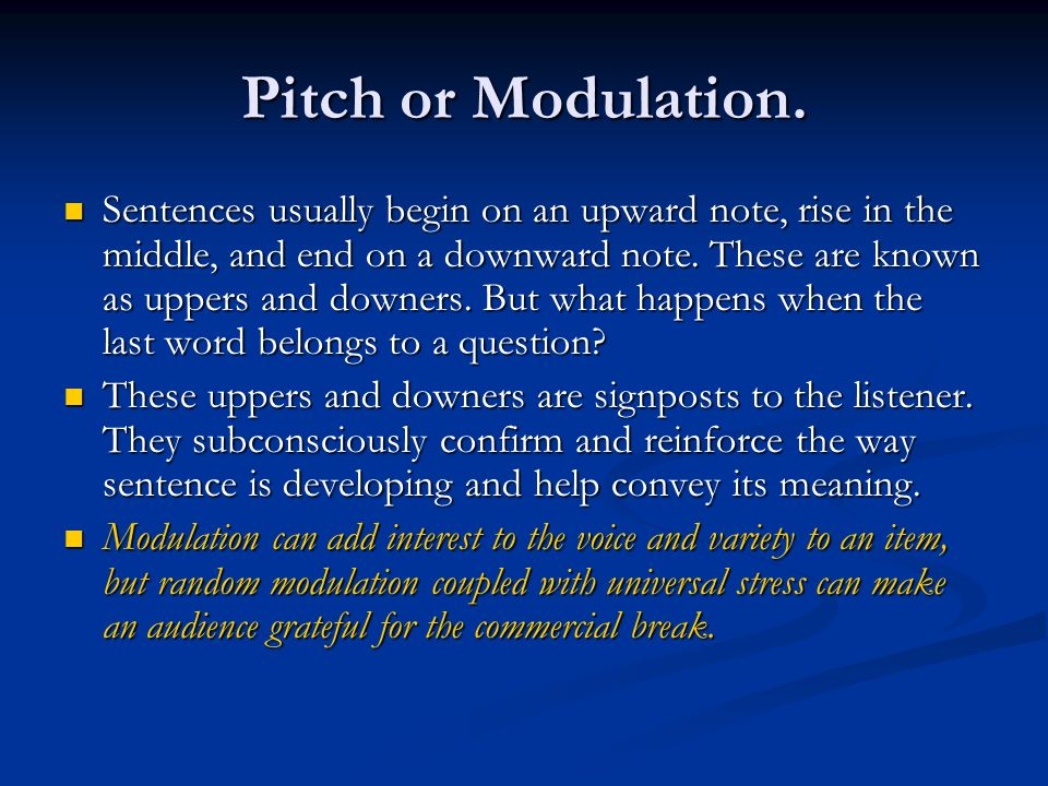 Pitch or Modulation.