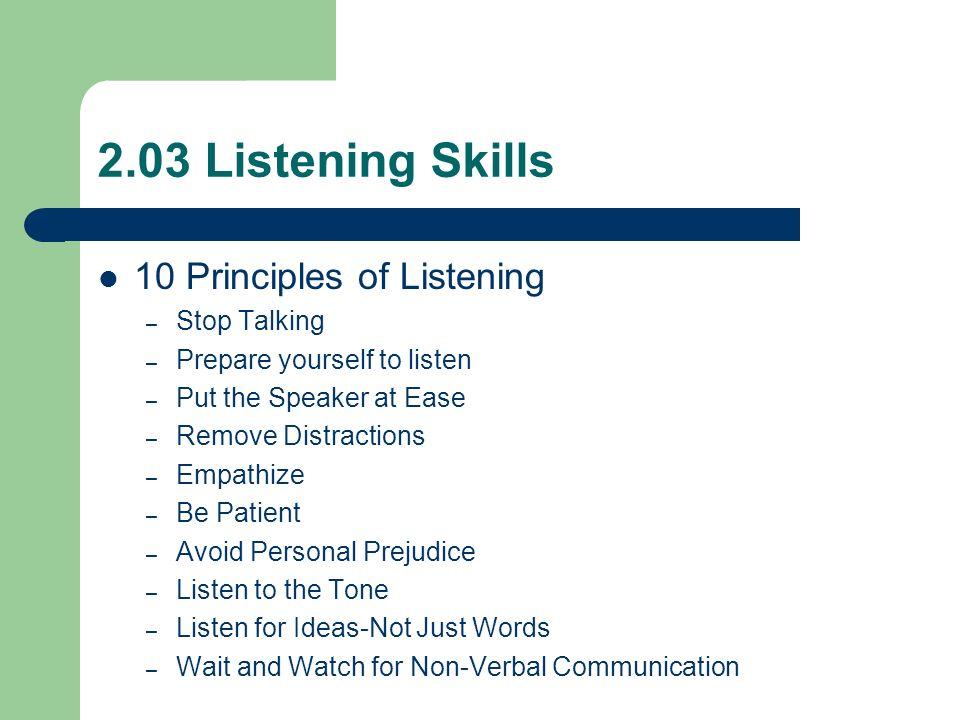 essay on listening skills