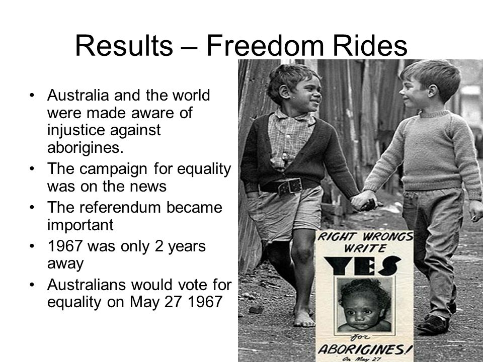 charles perkins and the freedom rides Charles perkins played an important role in the freedom rides in australia as an indigenous himself, perkins led the student action for aborigines around australia.