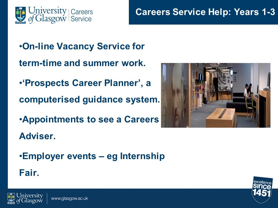 Careers Service Help: Years 1-3