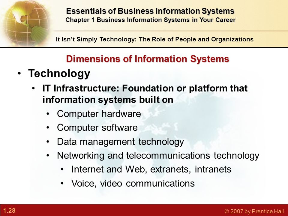 dimensions of information systems Systems chapter 4: ethical and social issues in information systems • – — – • – •—.