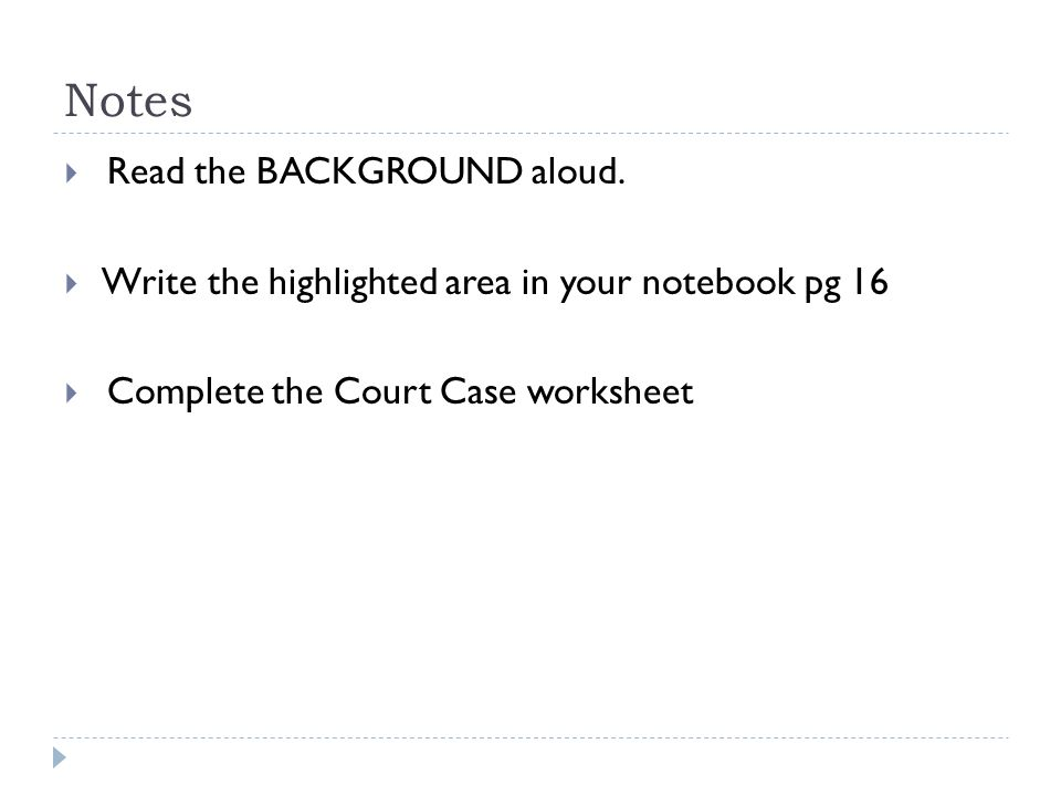 Worksheets Landmark Supreme Court Cases Worksheet landmark supreme court cases ppt download 2 notes