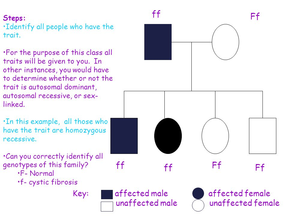 ff Ff Ff Key: affected male affected female