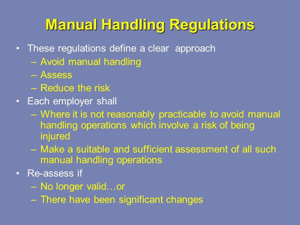manual handling risk assessment pdf