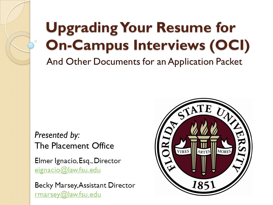 Upgrading Your Resume For On Campus Interviews OCI