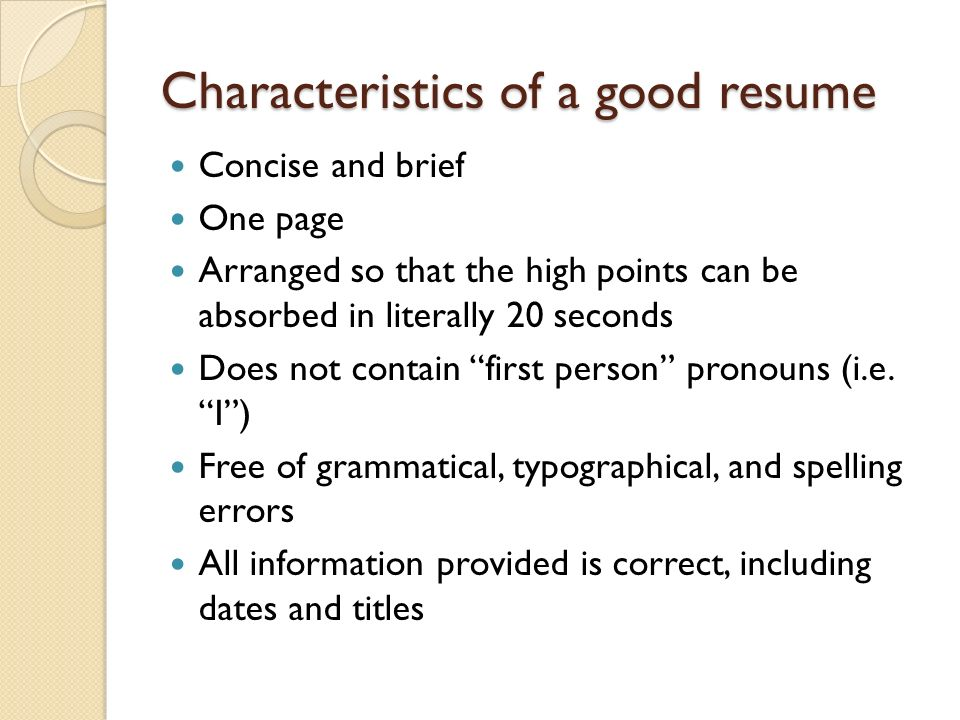 upgrading your resume for on cus interviews oci ppt