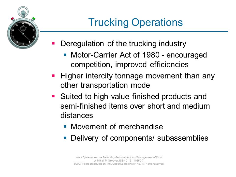 deregulation of motor carrier industry essay