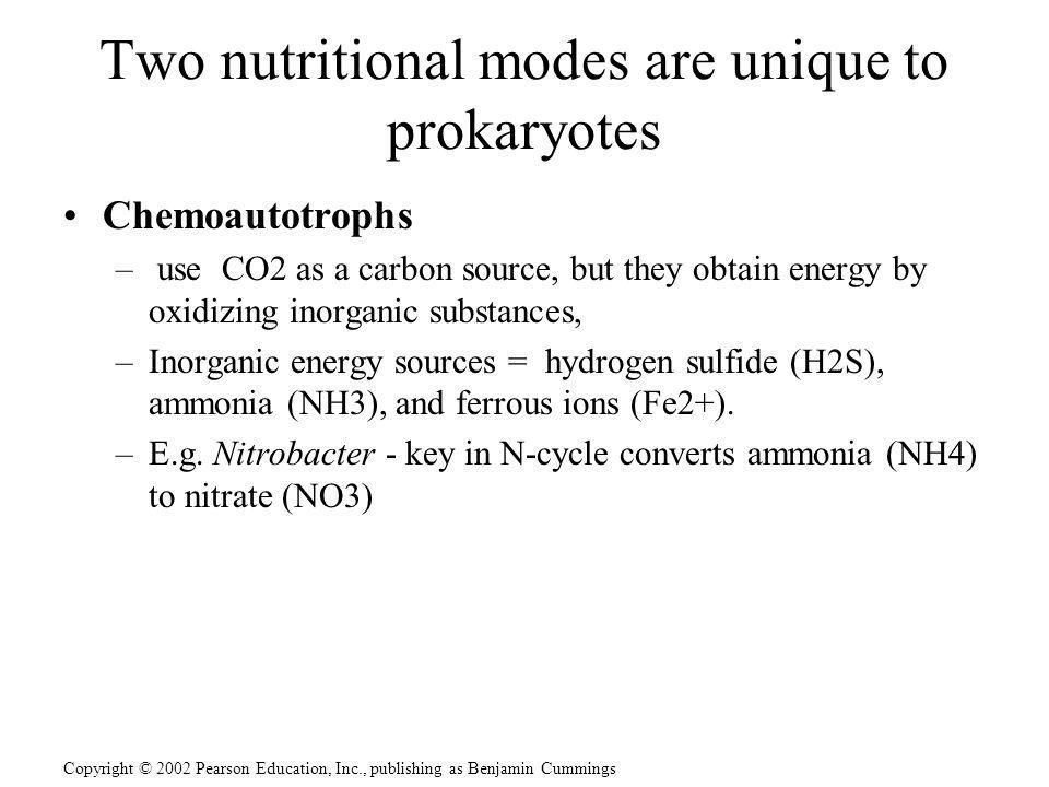 Two nutritional modes are unique to prokaryotes