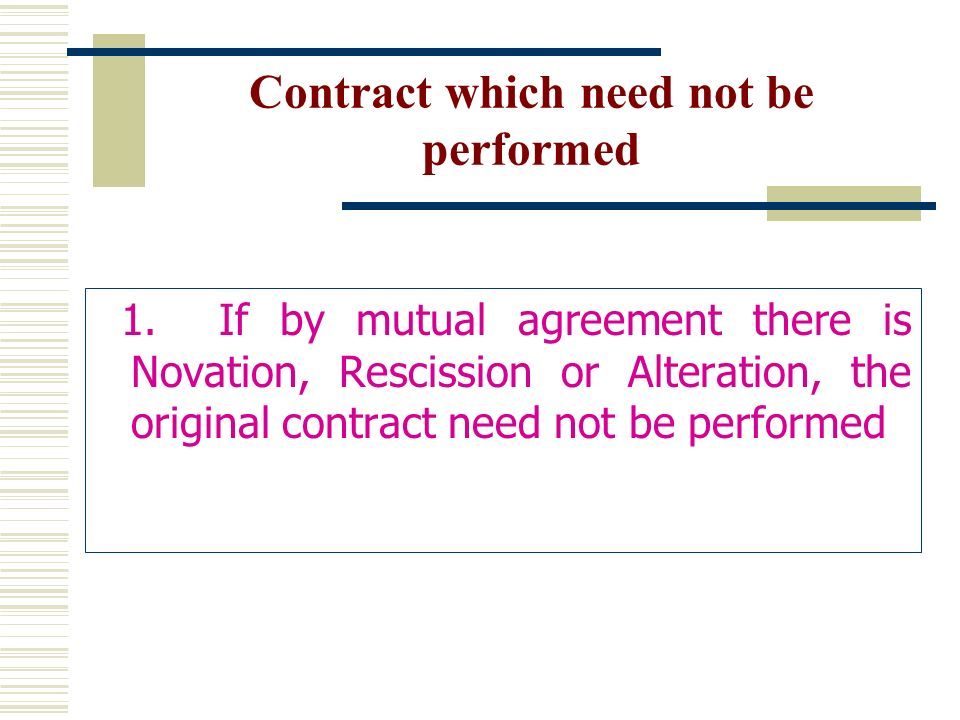 Performance Of Contract - Ppt Video Online Download