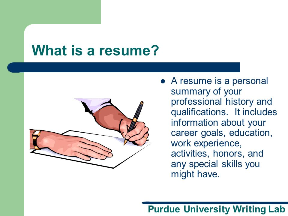 What is a resume