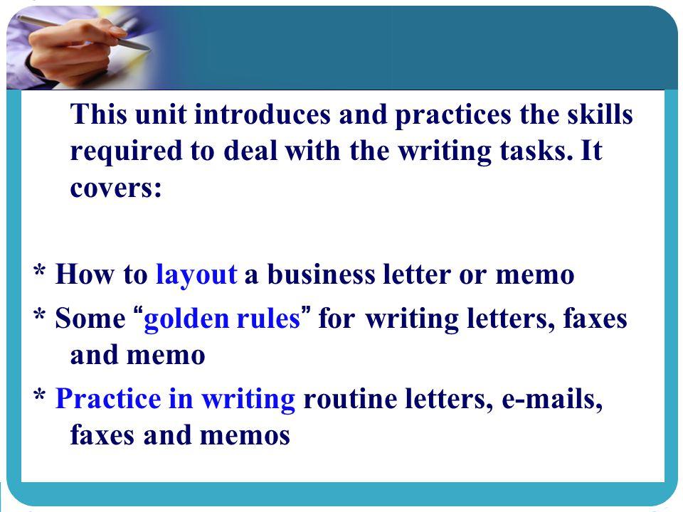 business memo practice